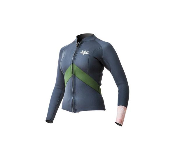 Women's Type ME LS Front Zip Jacket